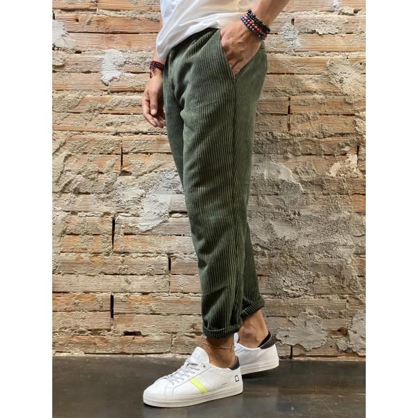 Pantalone velv verde