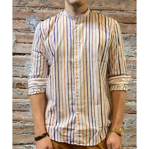 Camicia riga multicolor bl11
