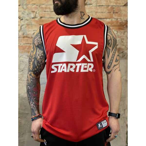 Canotta basket rossa