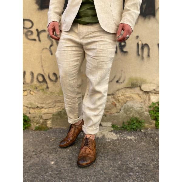 Pantaloni Lino beige sseinse