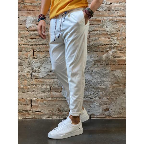 Pantalone touch bianco