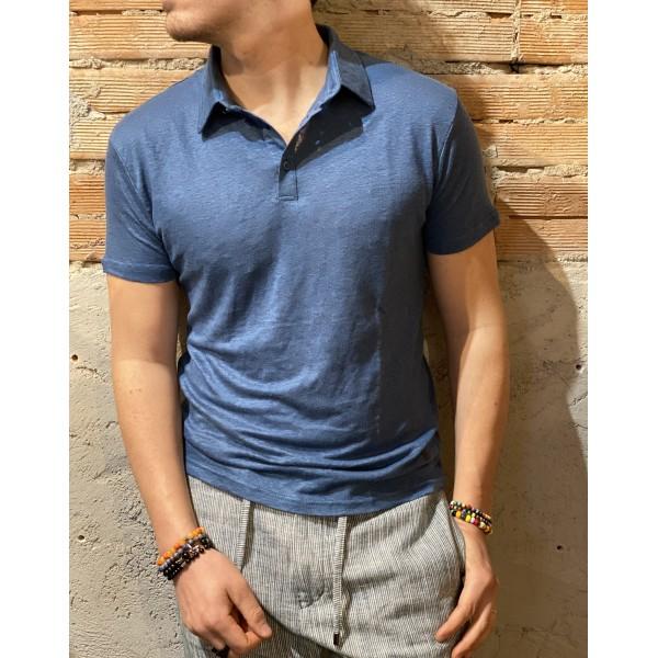Polo fine blu outfit