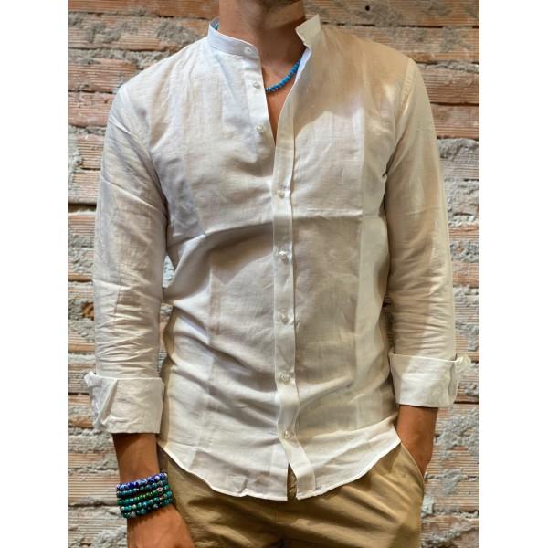 Camicia Lino white natural