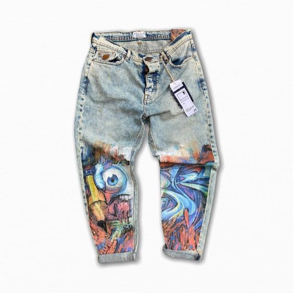 Jeans Berna grafiti
