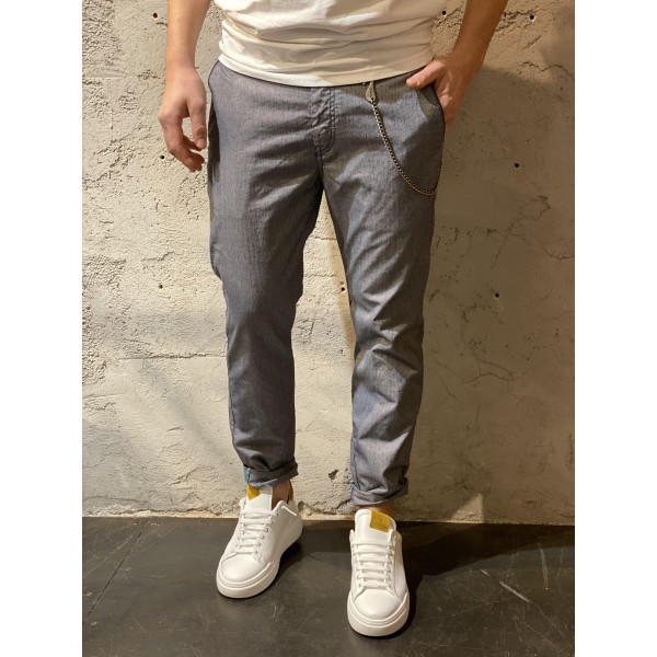 Pantaloni tessuto grezzo blu brn