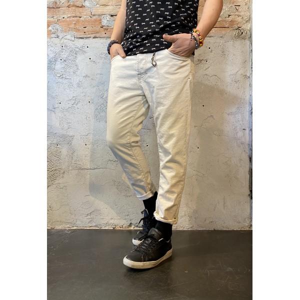 Pantalone Denim ecru