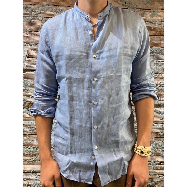 Camicia in lino Berna  azzurra