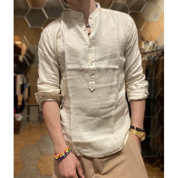 Camicia Lino beige  serafino