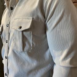 Camicia microvelluto burro