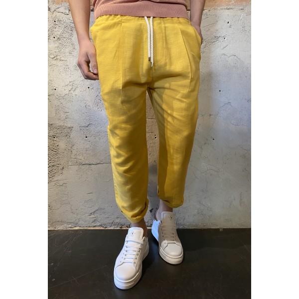 Pantalaccio lino giallo