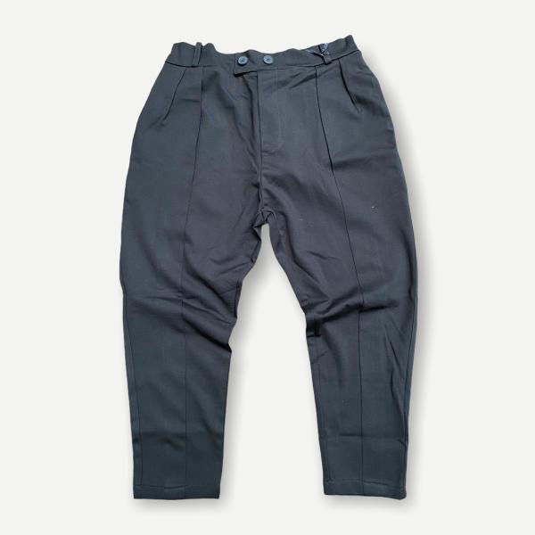 Pantalone carrot slim neri tessuto elasticizzato