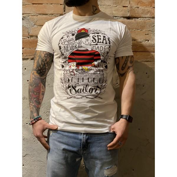 T shirt marinaio bianca