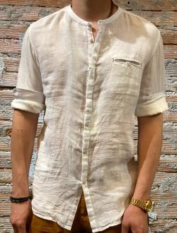Camicia bianca  puro lino plt brand
