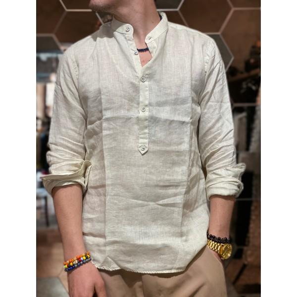 Camicia Lino bianca serafino