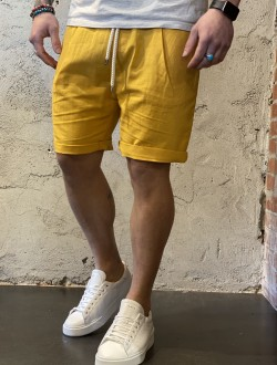 Bermuda in lino gialli
