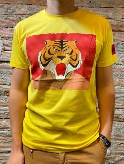 T shirt  gialla uomo tigre