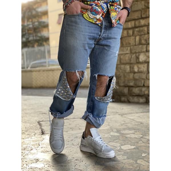 Levis custom borchia ginocchio