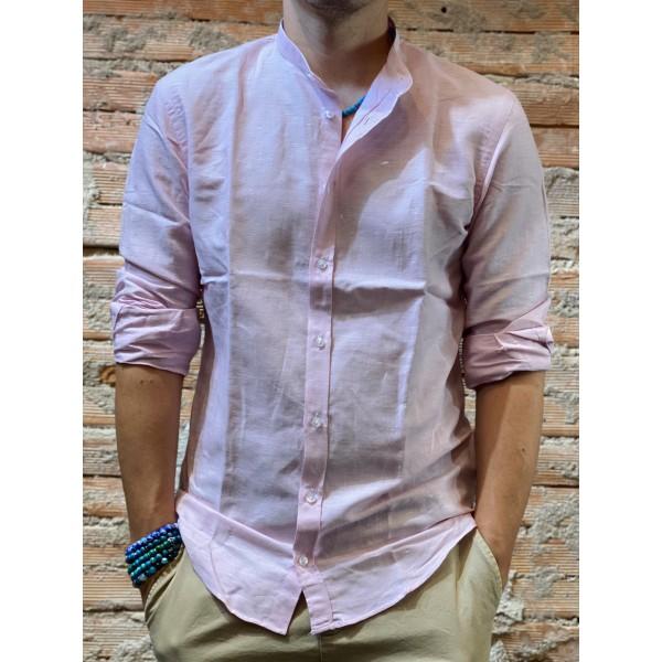 Camicia Lino rosa