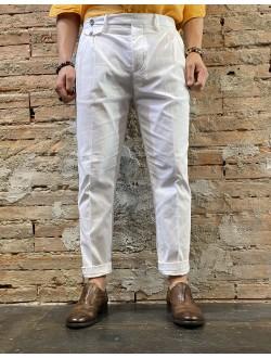 Pantaloni vita alta bianchi