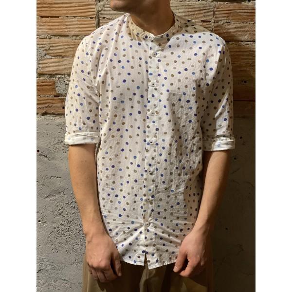 Camicia cotone pois disegnati
