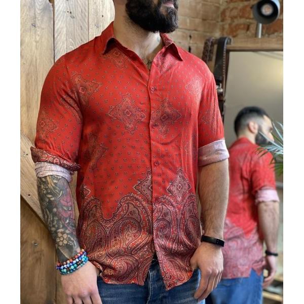 Camicia imperial fantasia rossa persian