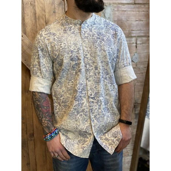 Camicia imperial cotone fantasia floreal