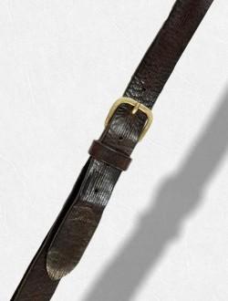 Cintura rigata marrone