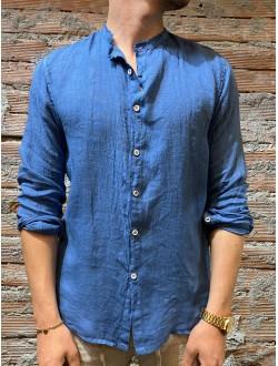 Camicia Lino blu