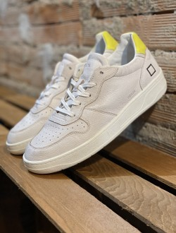 Date court white fluo