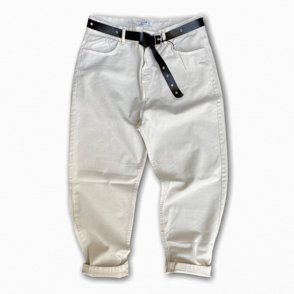Pantalone bianco Cropped over d