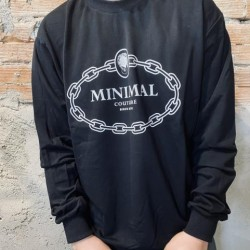 Felpa leggera minimal nera