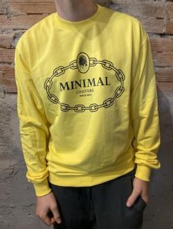 Felpa leggera minimal gialla