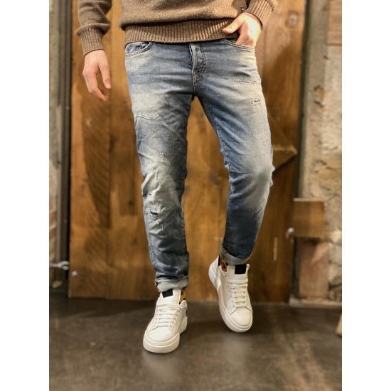 Denim stretch slim sabbiato jj