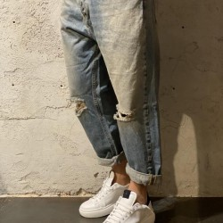 Denim over Cropped over broken
