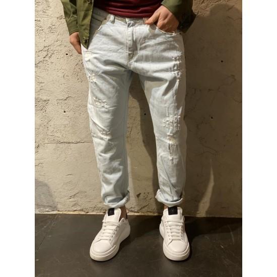Jeans chiaro carrot fit bl11
