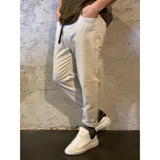 Pantaloni cintura bianco