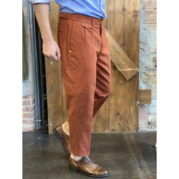 Pantalone elegance vita alta over coccio