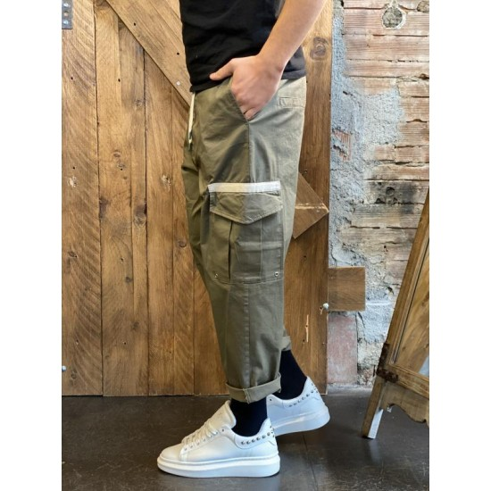 Cropped cargo imperial verde