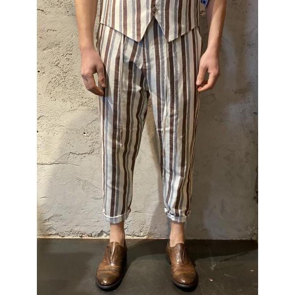Pantalone riga marrone bl11