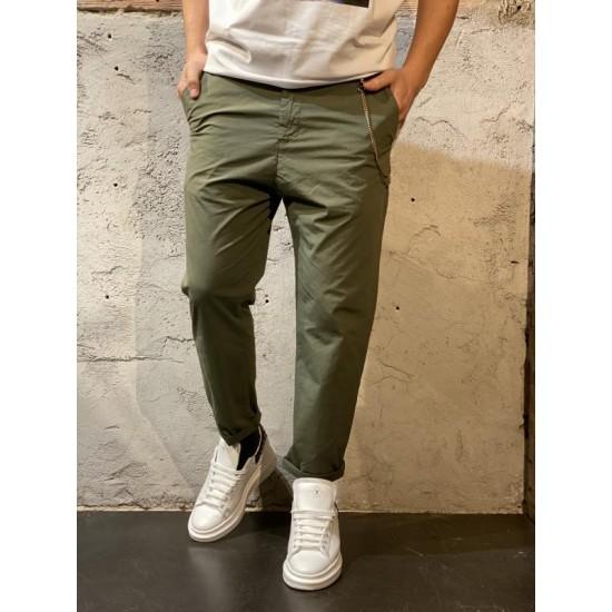 Pantalone tela para over d verde