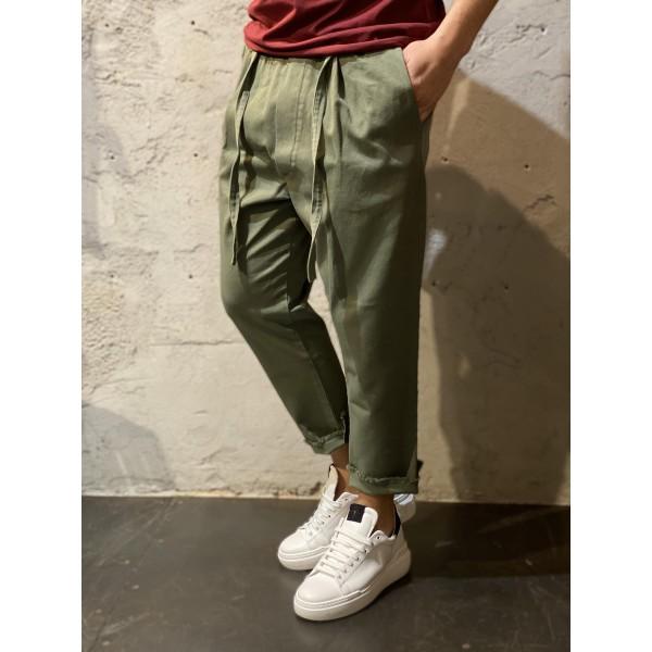 Pantalone verde worker over d