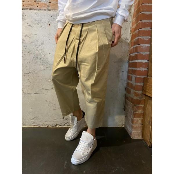 Pantaloni over super pensa beige