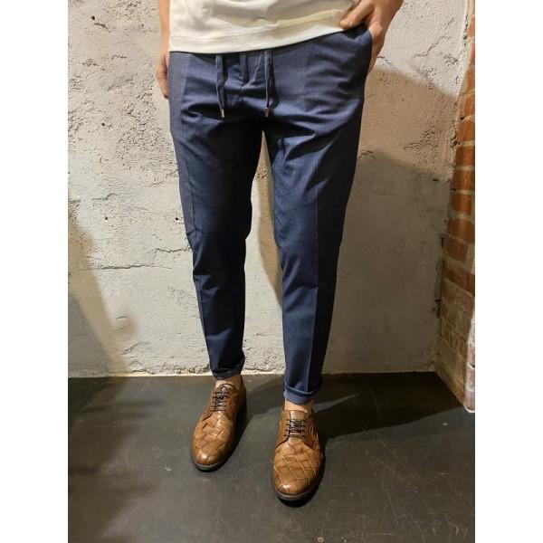 Pantaloni in cotone leggerissimo blu