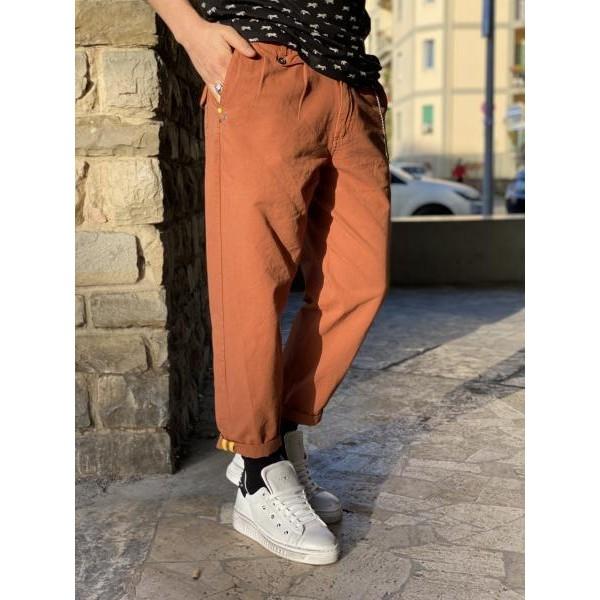 Pantaloni Berna coccio