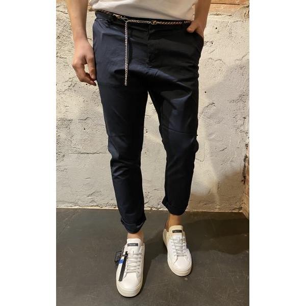Pantaloni slim carrot Od blu