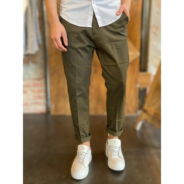 Pantalone elegance fit verde