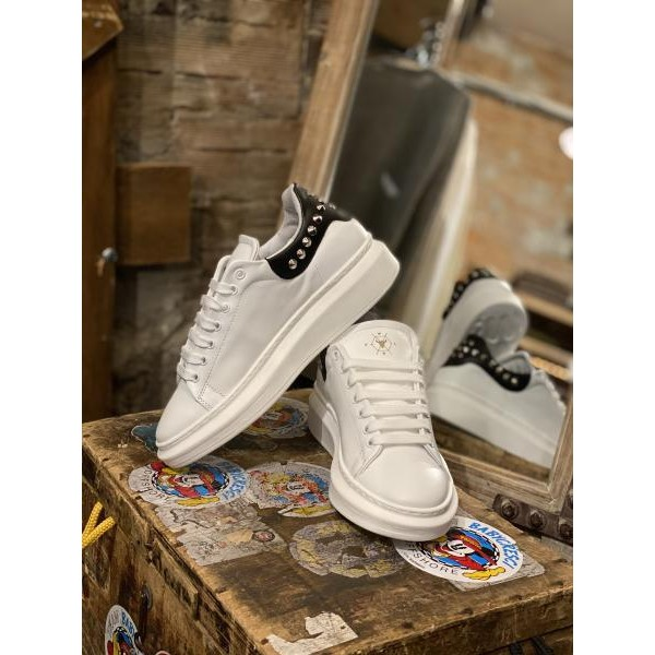Sneakers Pltf white black borchiata