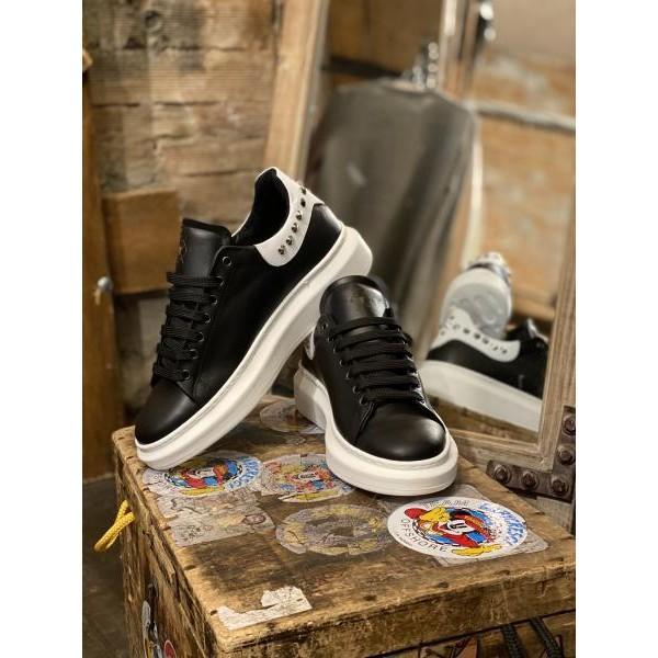 Sneakers Pltf black white borchiata