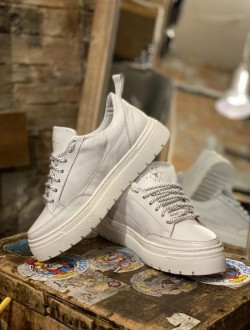 Sneakers plat plus white