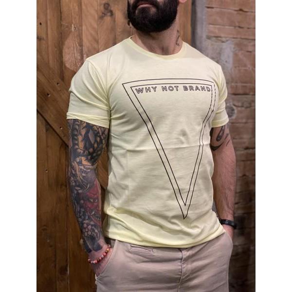 T shirt logo why not brand gialla